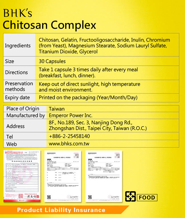BHK's Chitosan Complex