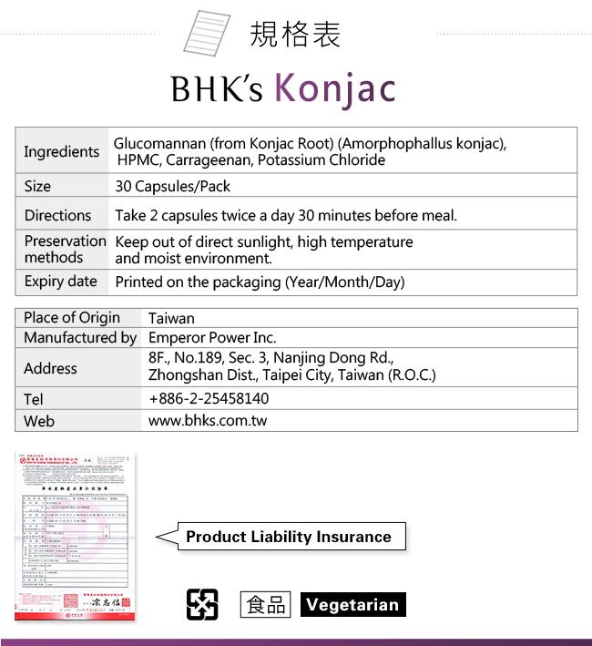 BHK's Konjac