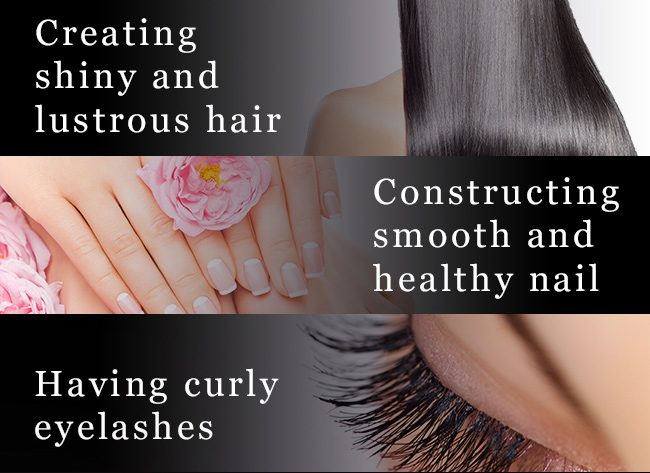 BHK's biotins makes hair shiny, nail strong and curly eyelashes