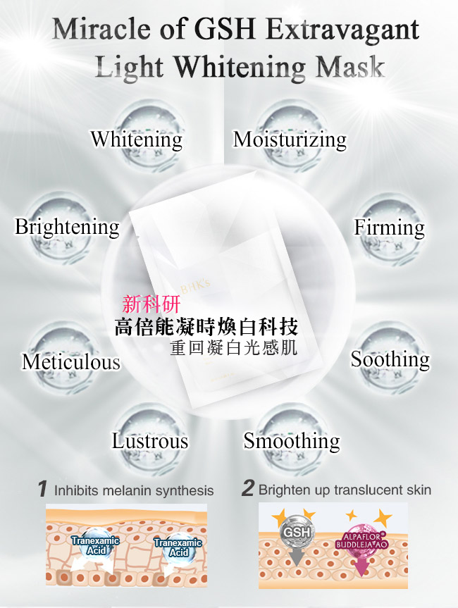 Miracle of glutathione extravagant light whitening mask