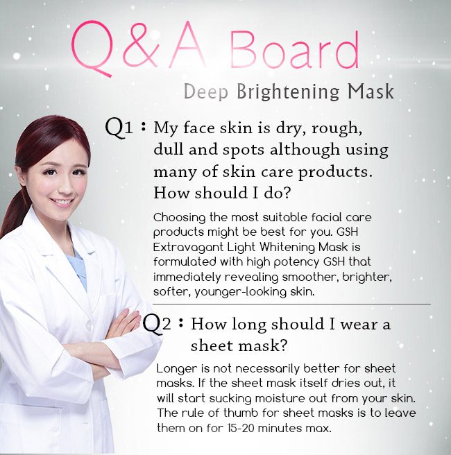 To indicate user's problem of BHK's brightening mask