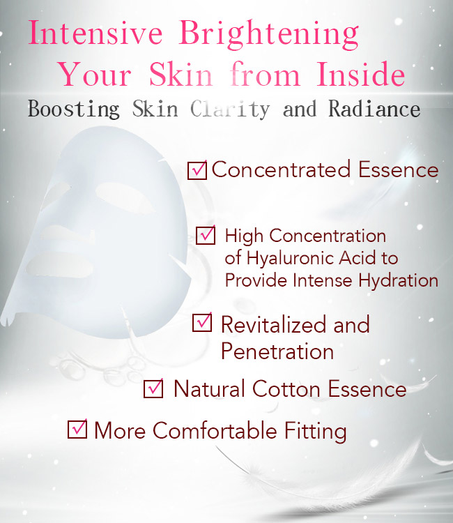 BHK's mask intensive brightening your skin from inside