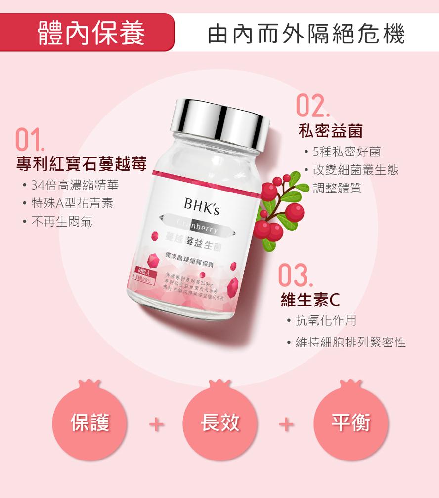 BHK's紅萃私密潔淨慕斯,BHK's紅萃蔓越莓益生菌錠幫你遠離悶搔、異味、疼痛