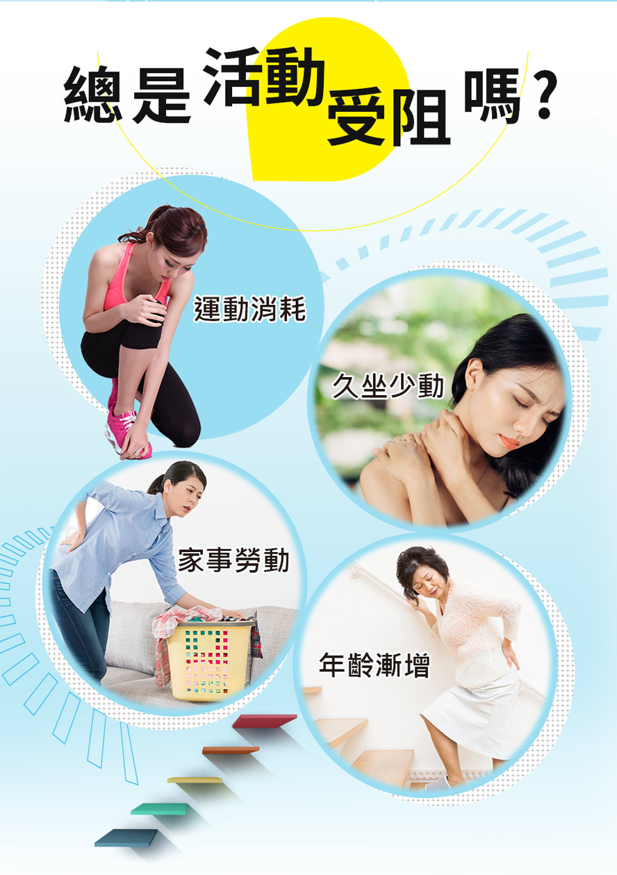 BHK's葡萄糖胺乳霜適合運動消耗、就做少動、家事勞動、年齡增長的人使用