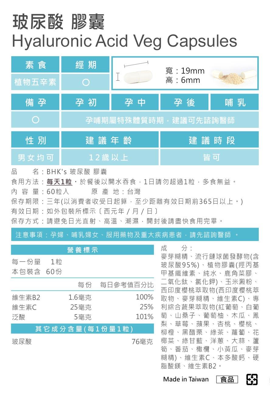 BHK's玻尿酸、膠原蛋白通過安全檢驗,安全無慮,無副作用用