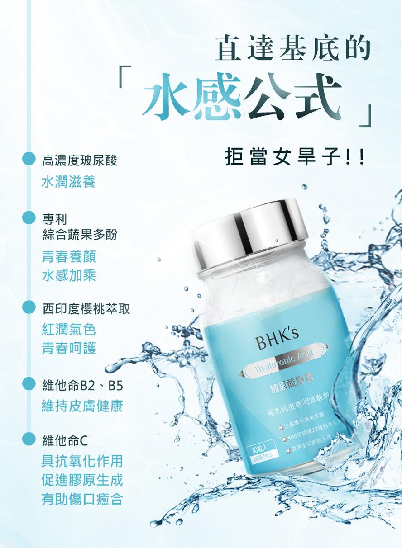 BHK's玻尿酸防止水分流失,超強抗老化