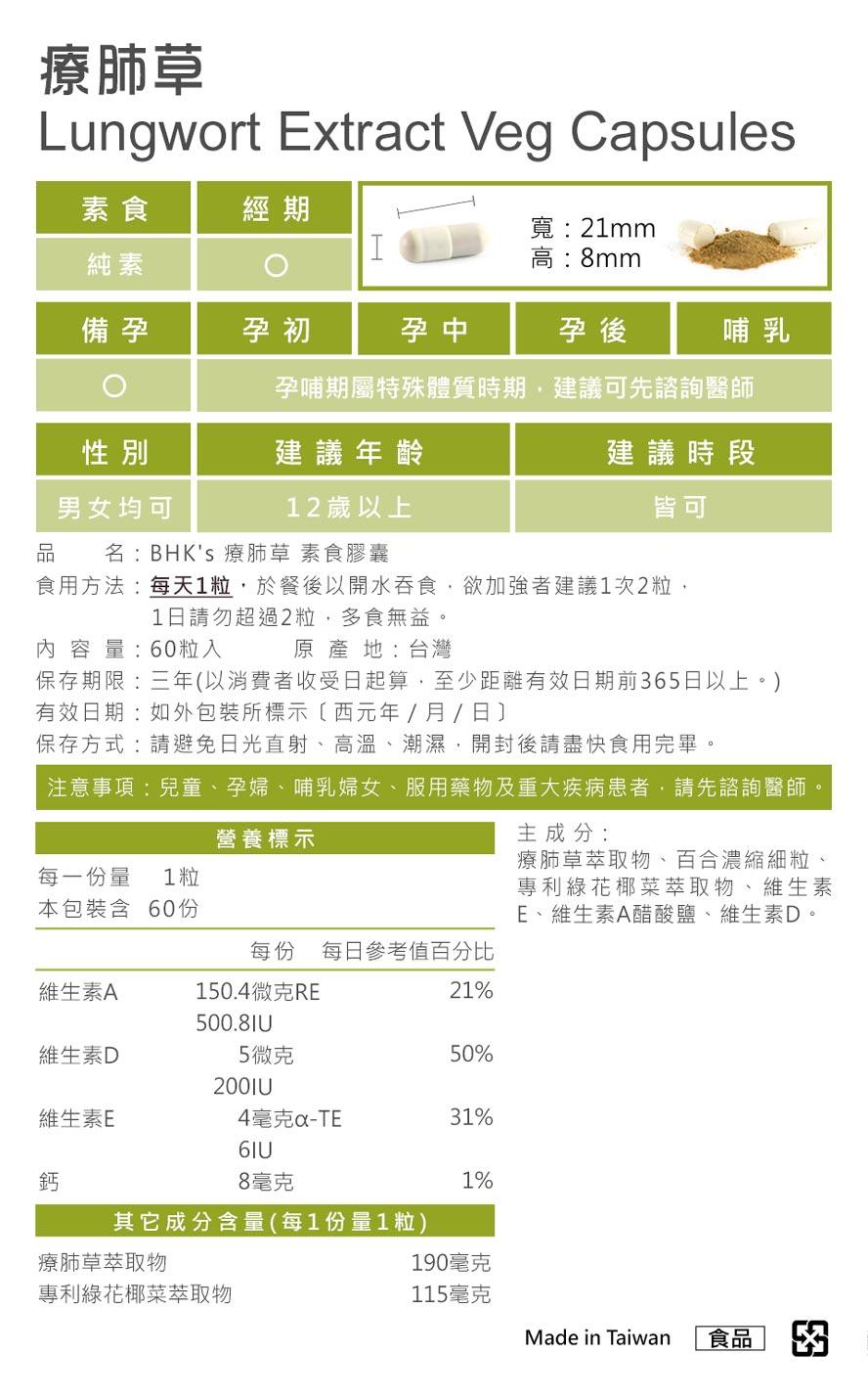 BHK's療肺草通過安全檢驗,安全無慮,無副作用,有效對抗肺部疾病。