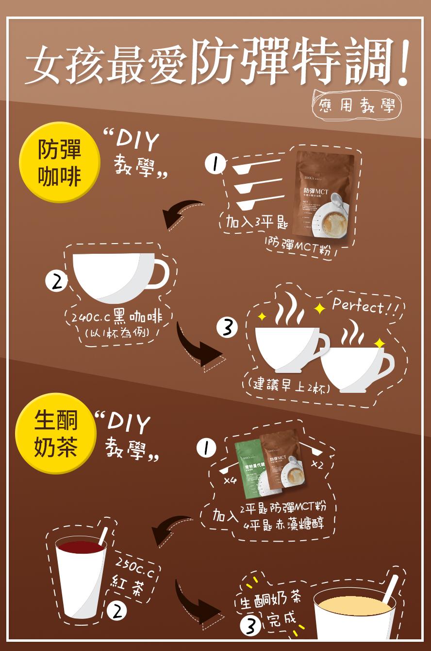 BHK'sMCT粉加入黑咖啡中,每天早上兩杯有效快速瘦身