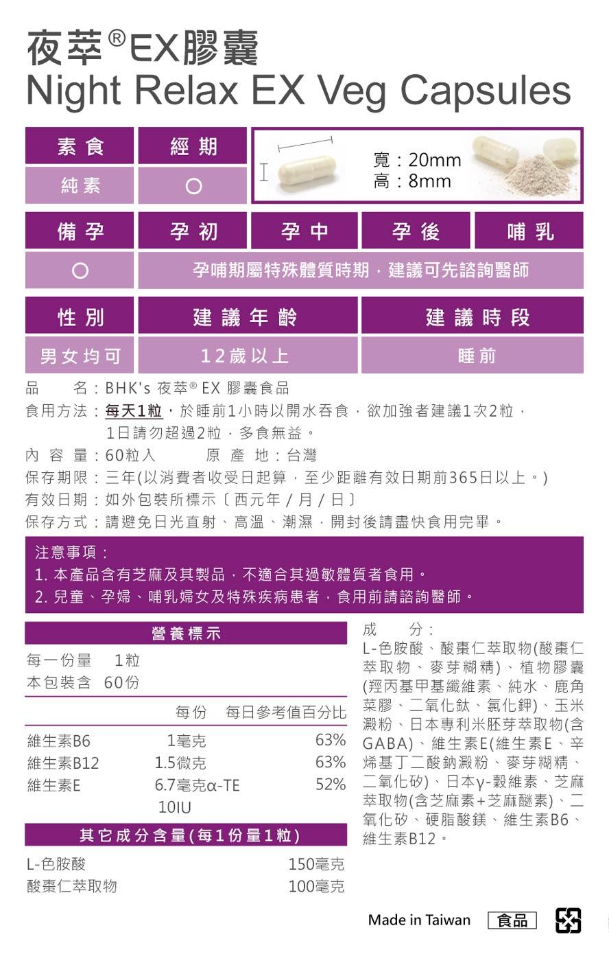 BHK's夜萃EX膠囊和BHK's舒眠精油通過安全檢驗合格,可安心使用。