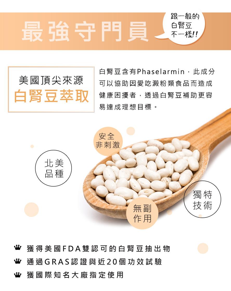 BHK's白腎豆擁有美國FDA認證,安全無疑慮