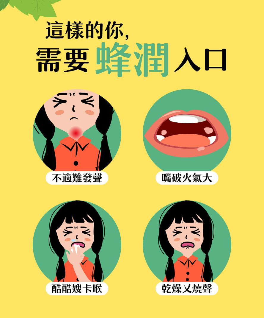 BHK's綠蜂膠薄荷錠適合喉嚨不舒服、咳嗽、嘴破火氣大的人。