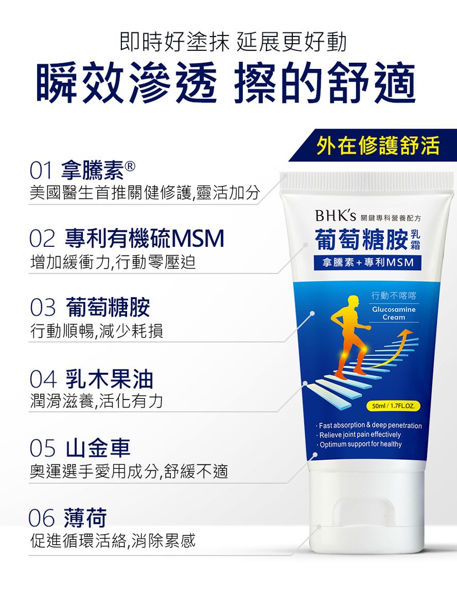 拿騰素是美國醫生第一推薦關節修護成份,有效改善關節不適。
