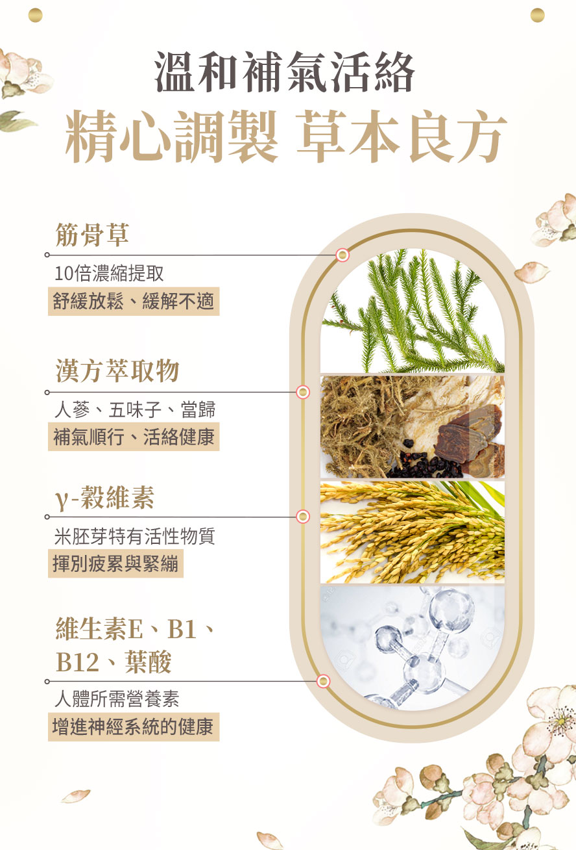 BHKs筋骨草添加高濃縮金骨草萃取、人蔘、五味子、當歸與穀維素,屬溫補,所有人適用。
