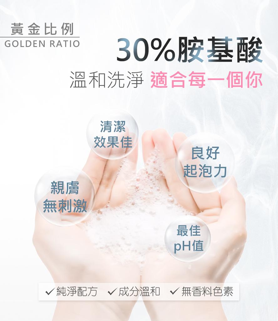 BHK's胺基酸洗面乳添加30%天然胺基酸,輕易搓出綿密泡泡,洗感比抗痘洗面乳、去角質洗面乳、美白洗面乳更舒服,輕鬆洗出水煮蛋肌,讓毛孔深呼吸。