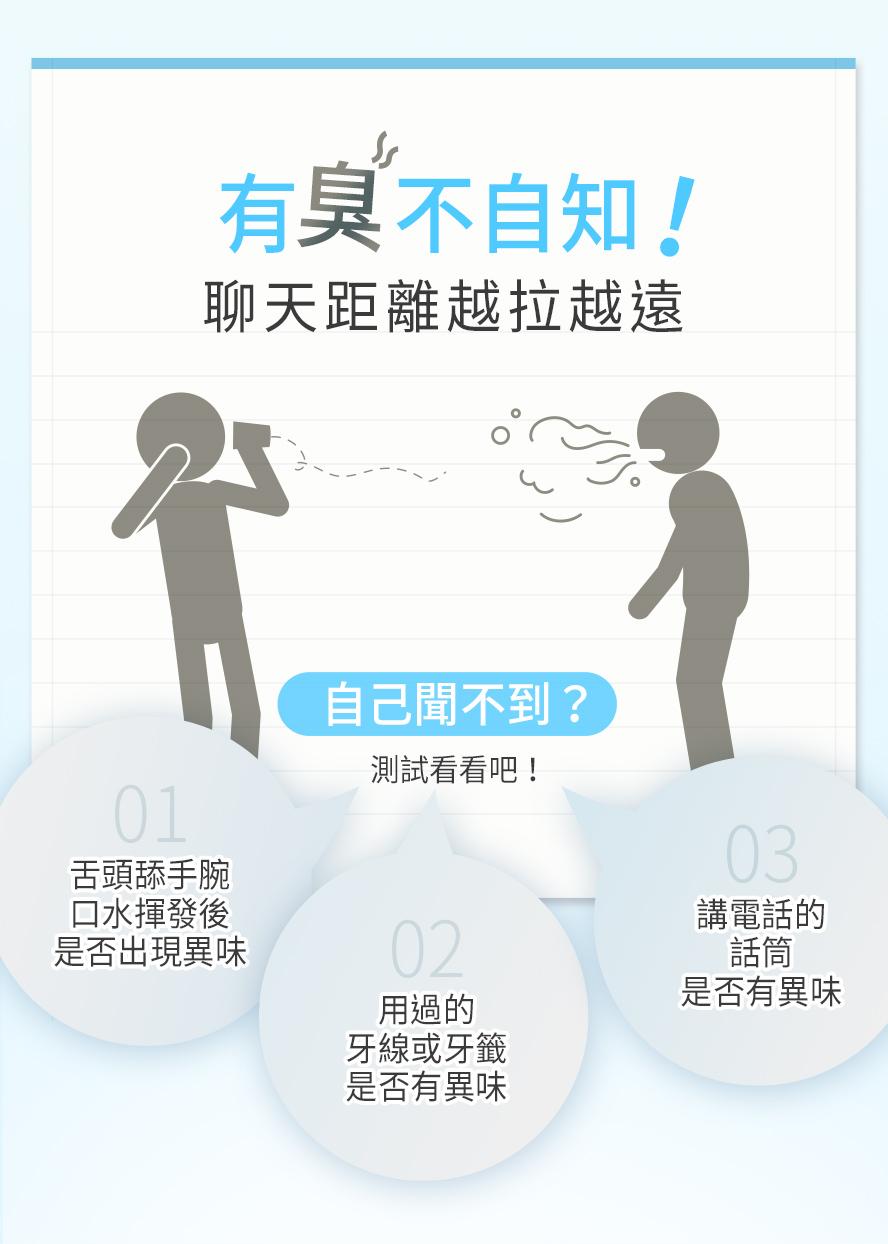 口臭容易影響人際關係,造成口腔異味的原因是嘴巴內的細菌引起產生的,日常需多注意口腔清潔。