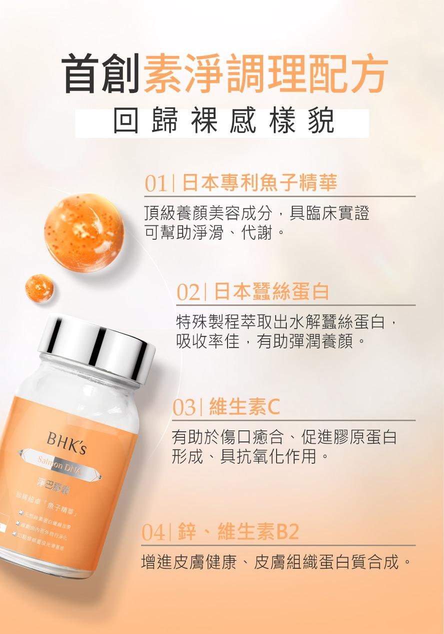 BHKs淨巴膠囊添加日本珍貴蠶絲蛋白,可加速傷口癒合速度,並增加肌膚彈性,減少皮膚損傷留疤。