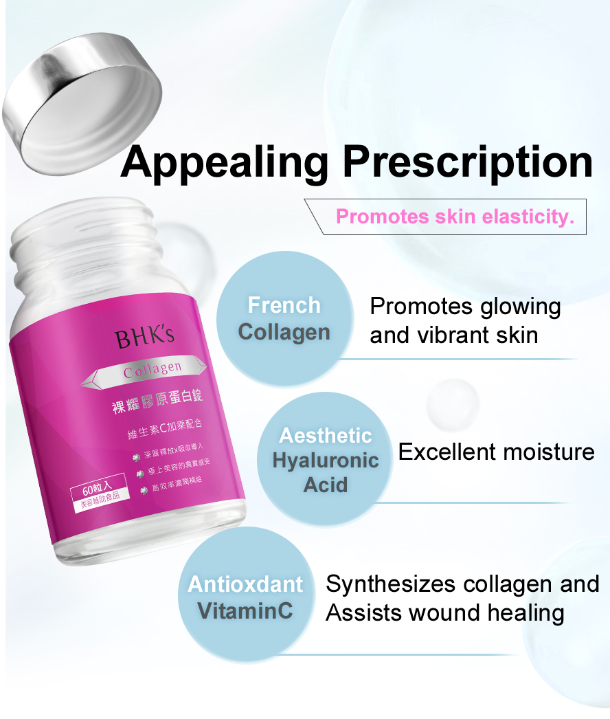 With excellent formulation coating which completely wrapped the collagen as the protection