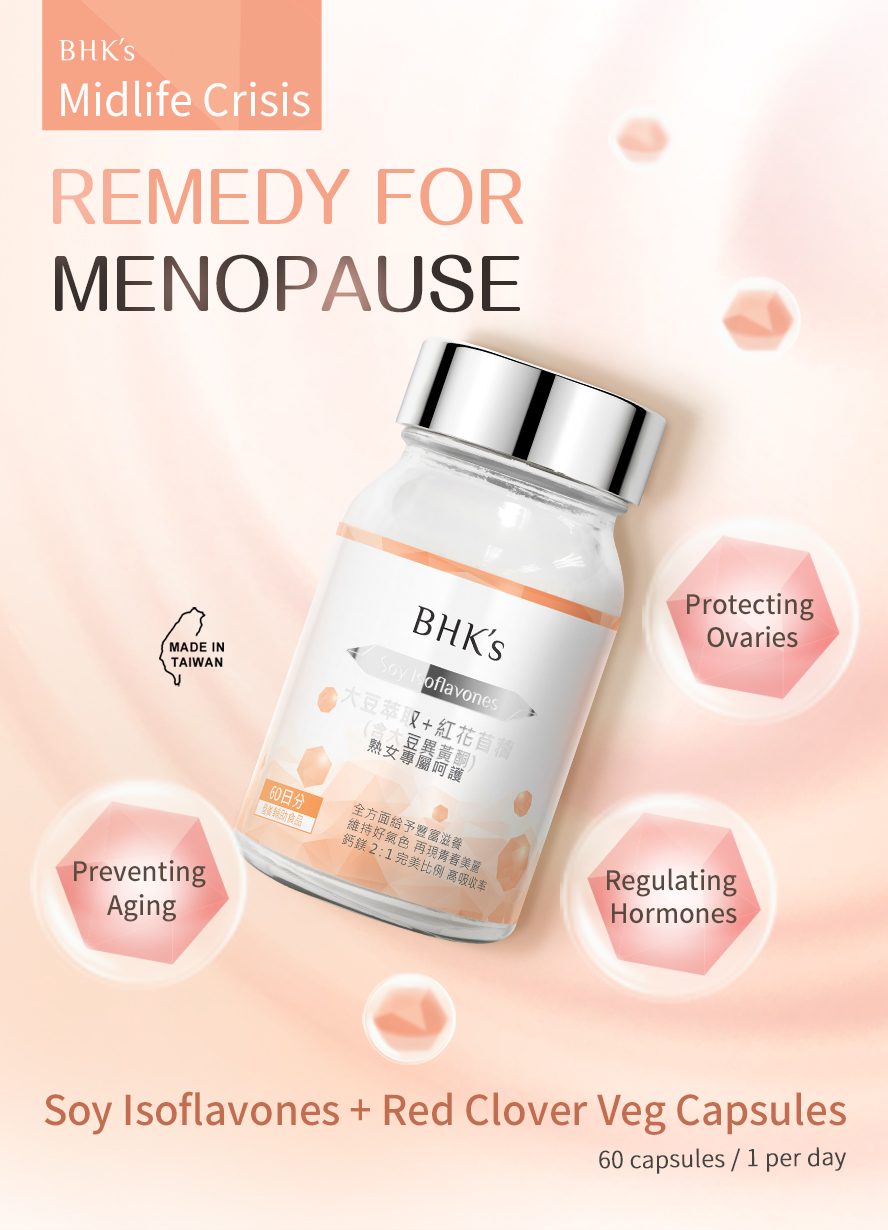 BHK's soy isoflavones are remedy for menopause for women