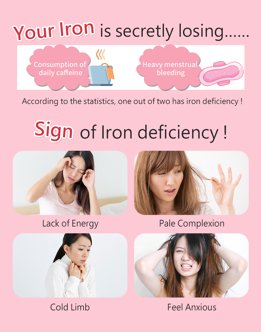 Those who have an iron deficiency are the target audience of BHK's iron