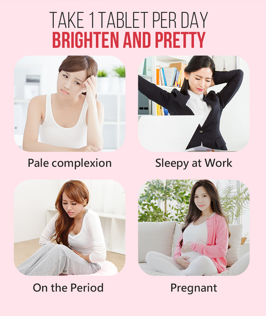 Take BHK's iron 1 tablet per day , make you have good complexion