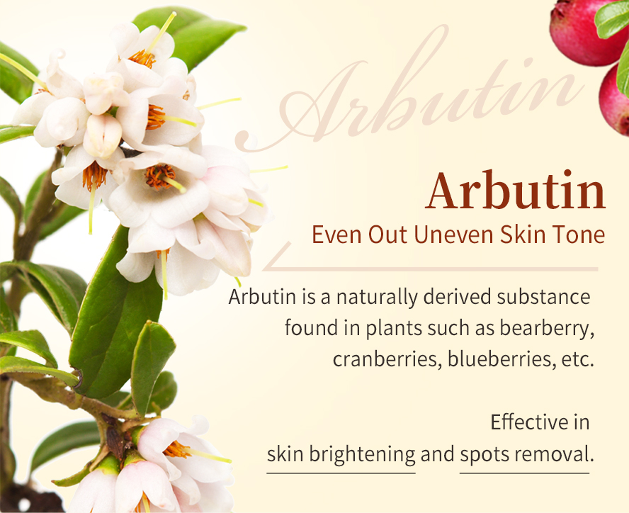 BHK Natural arbutin have arbutin helps fade discoloration while brightening skin tone