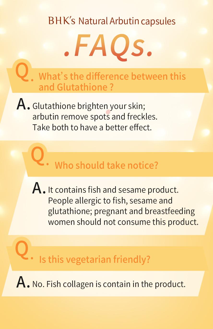 BHK's Natural arbutin  isn't suggest vegetarian to eat.