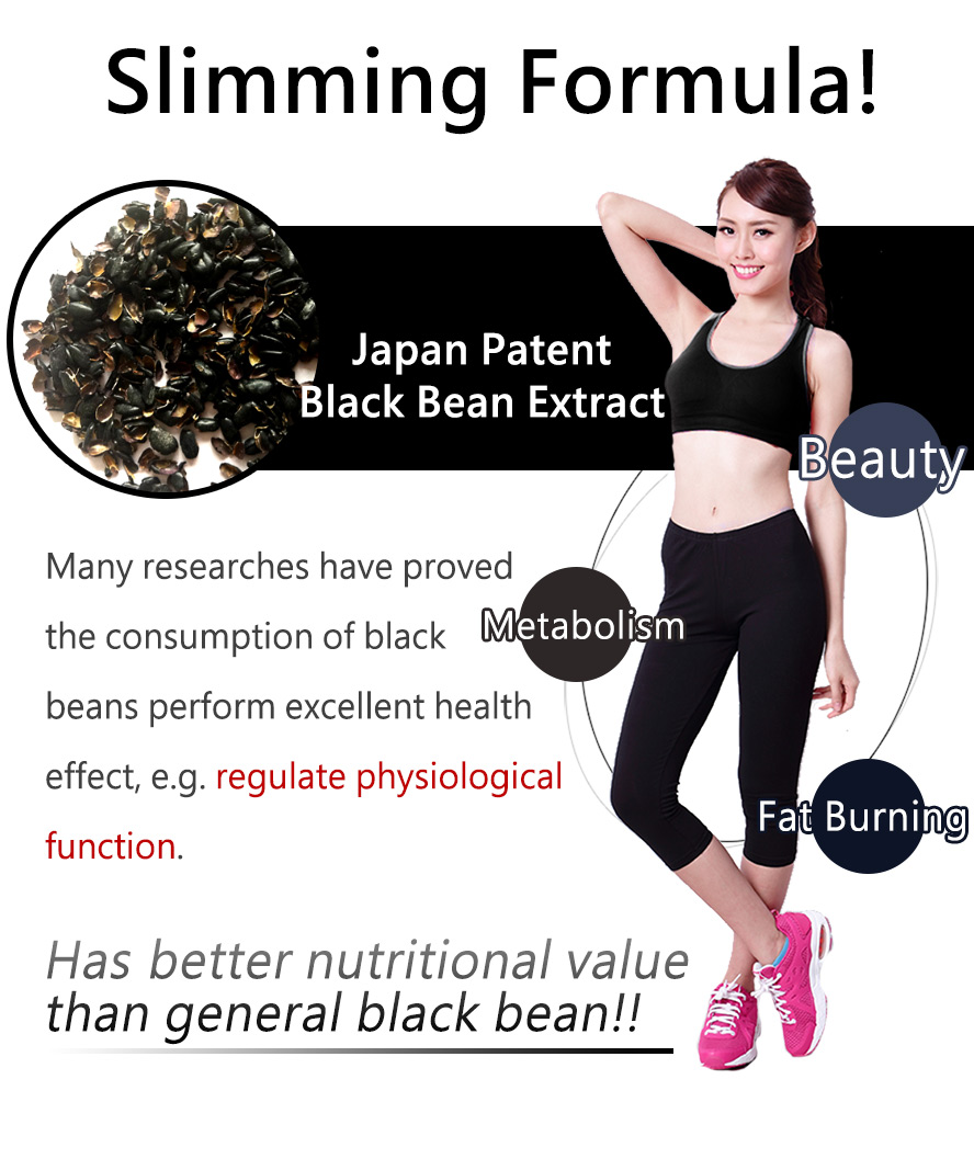 BHK-Blacksoybeans capsule helps bowel movement, fat burning, metabolism, body shaping