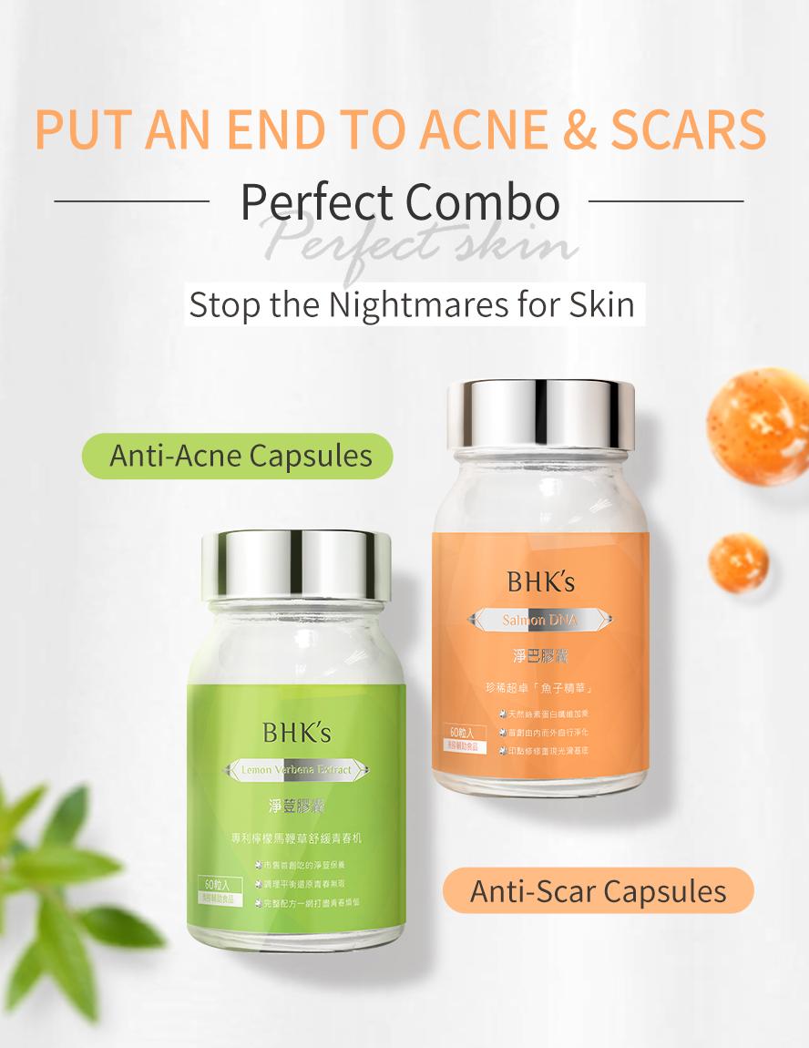 BHK-Lemon-Verbena Planox® L, Lemon Verbena exract,  Zinc, Vitamins, pimple acne cleaner, natural dietary supplement
