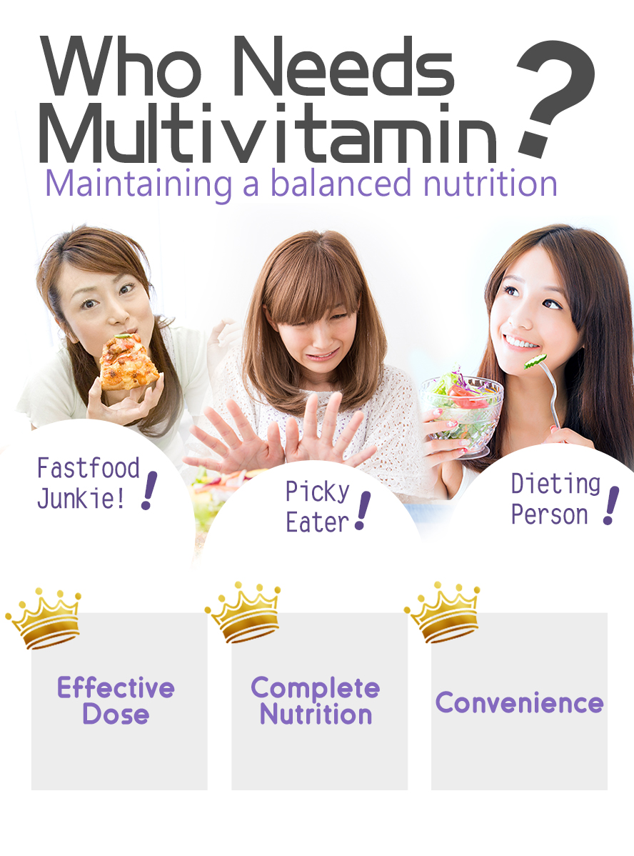 BHK's multi vitamins should be obtain by people who lack of pefect diet plan and not enough of nutrient intake.