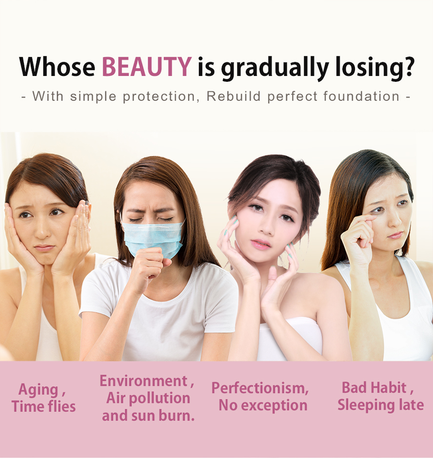 BHK's Luxurious beauty skin care for pollution, aging problem, bad habit, sleeping late