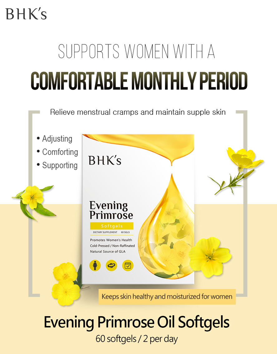 BHK's EveningPrimrose with addtional borage oil, it treats hormonal imbalances and comfort your menstrual period