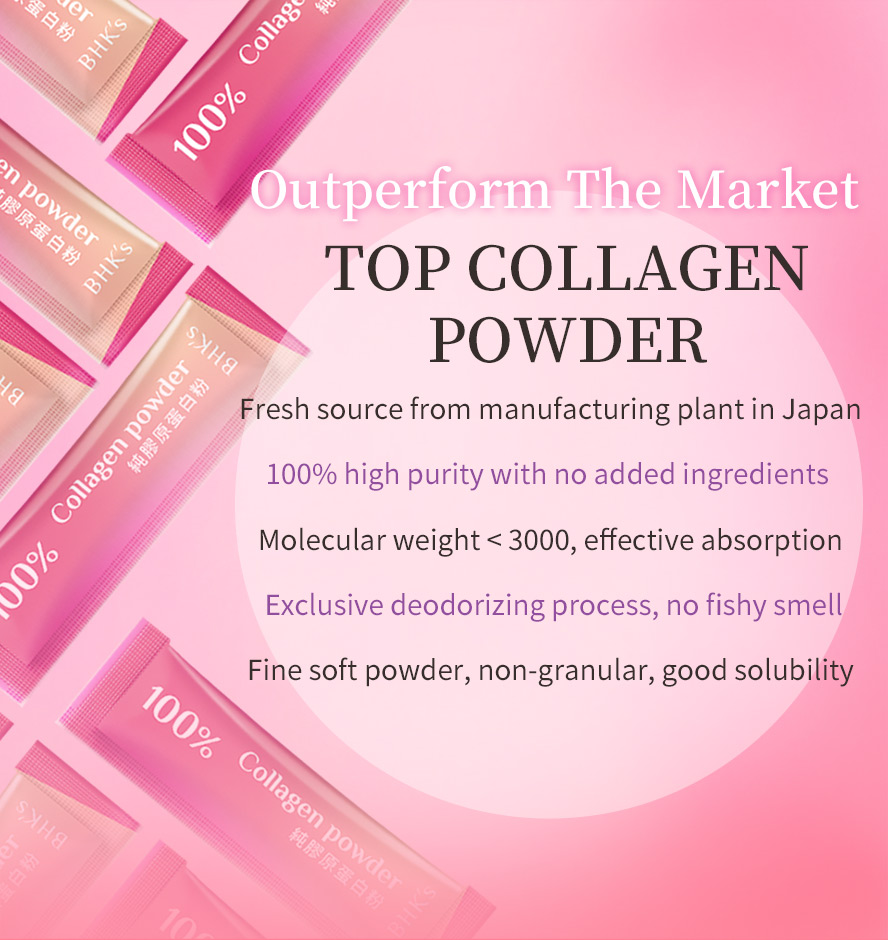 BHK's Collagen Powder is hydrolyzed collagen that broken down into smaller molecules so it's easier to absorb into your body.