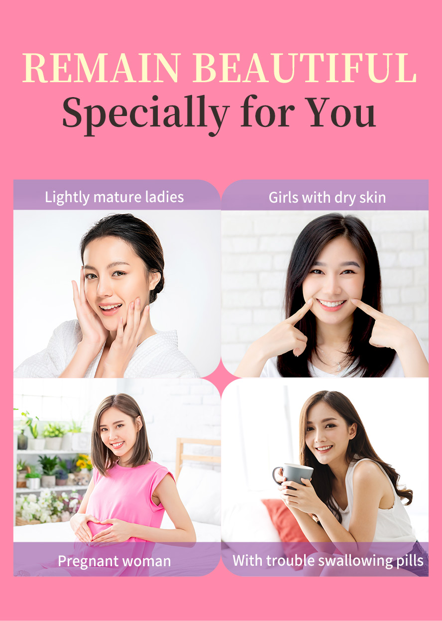 BHKs Collagen Powder is suitable for woman daily care, pregnant woman, old people and people who have swallowing difficulty.