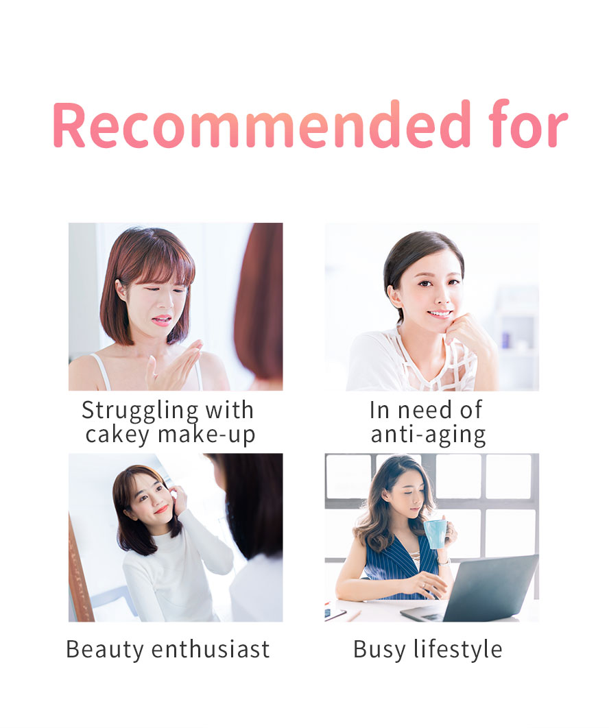 BHK Pearl Collagen Powder is recommended for women above 30 years old to improve skin condition