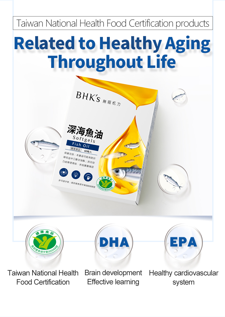 BHK's fish oil TG forms of EPA and DHA were shown to be 48% and 36% better absorbed than EE forms.