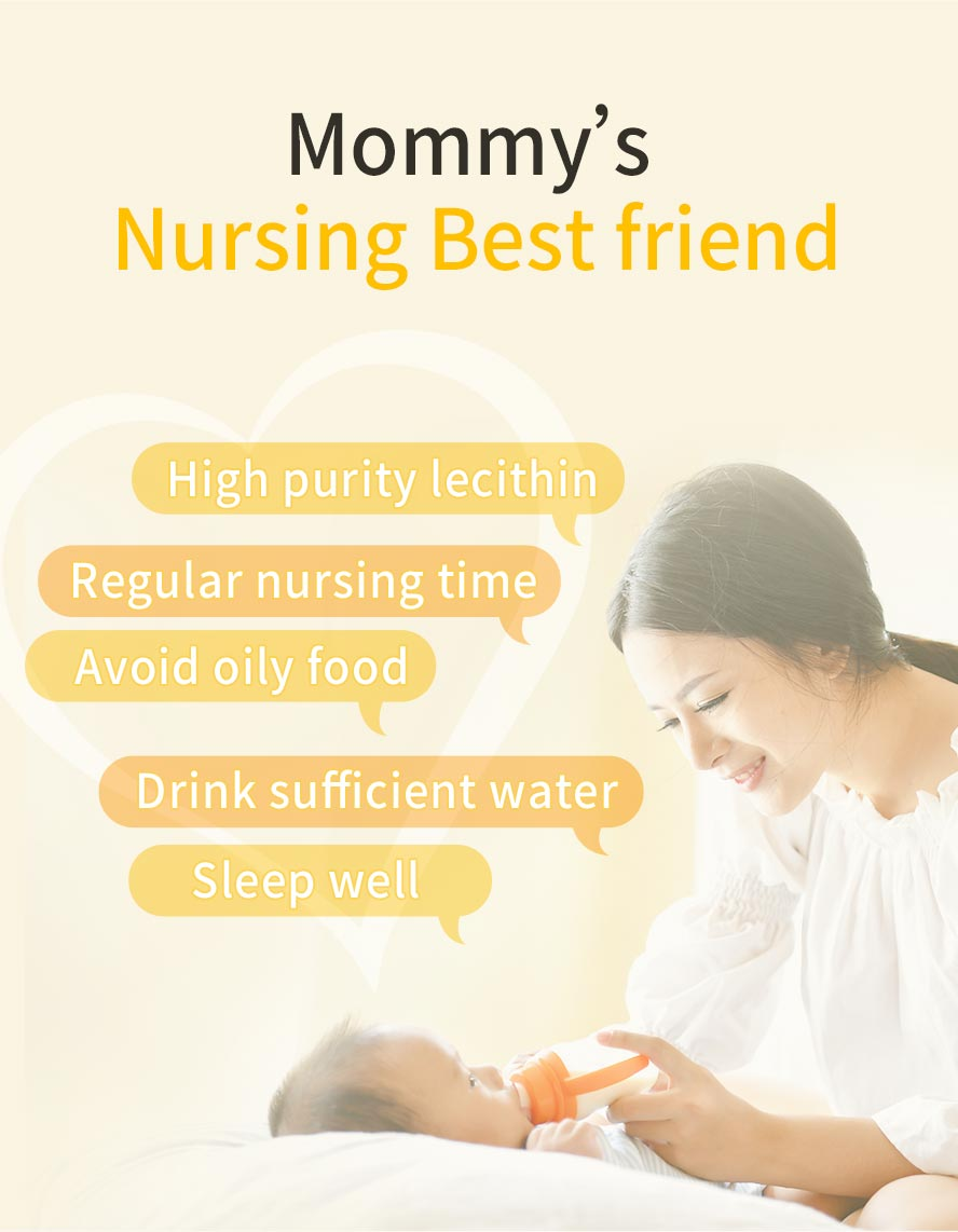 Recommended for pregnant mommies, to help with smooth lactation, prevent milk congestion