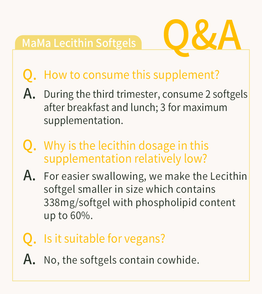 Start Lecithin supplementation when on second trimester of pregnancy for a better breastfeeding experience