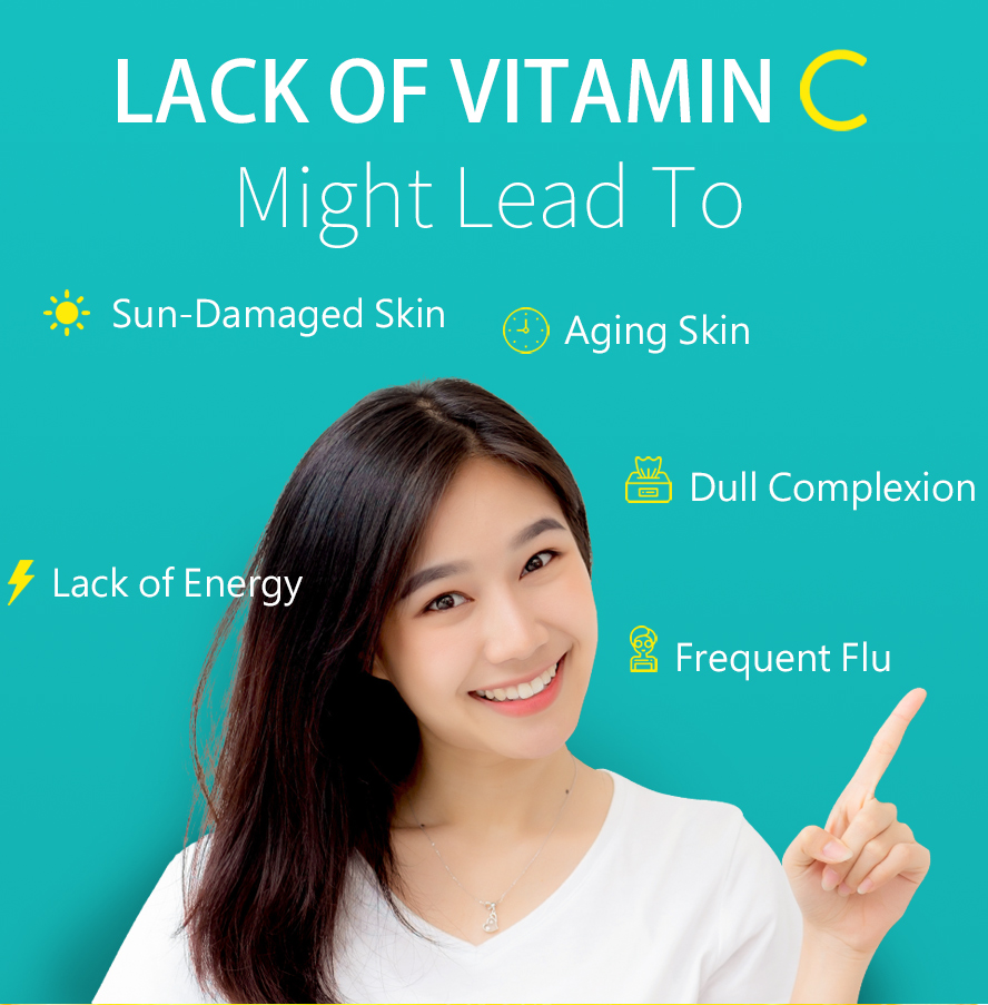 BHK Vitamin C is a strong antioxidant that can make you whitening.