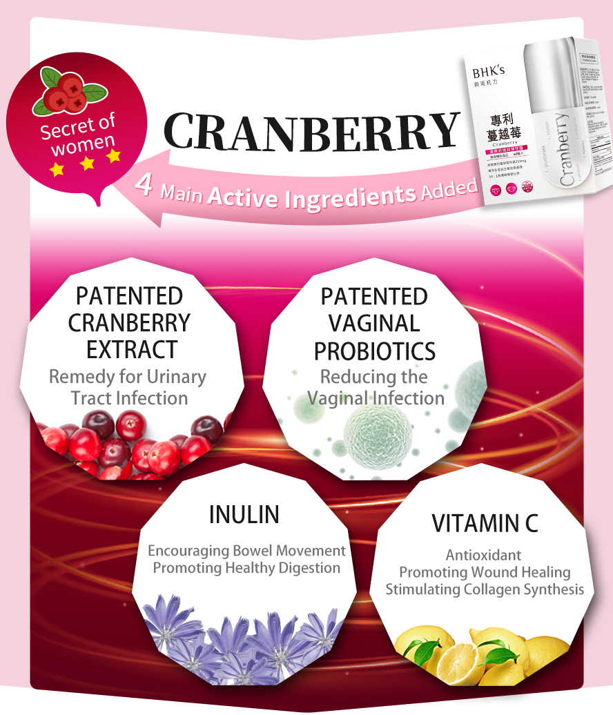 BHK's cranberry capsule is highly recommended by all the female consumer.