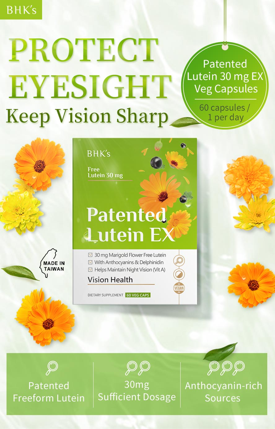 BHK's Lutein 30mg create a bright vision complex formula for eye's clear and health
