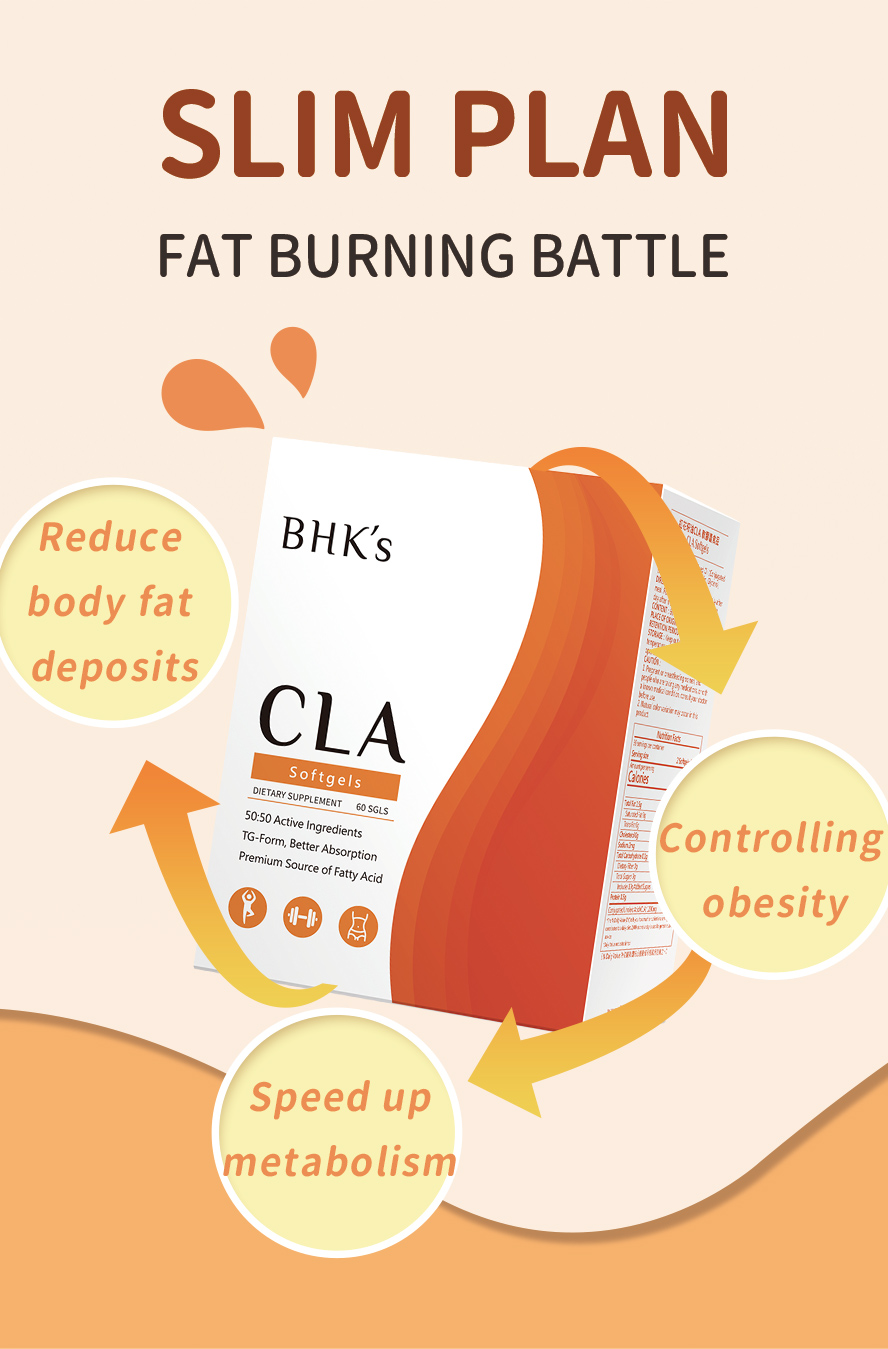 BHK's CLA reduce body fat, improve body composition and increase lean body mass as well as muscle