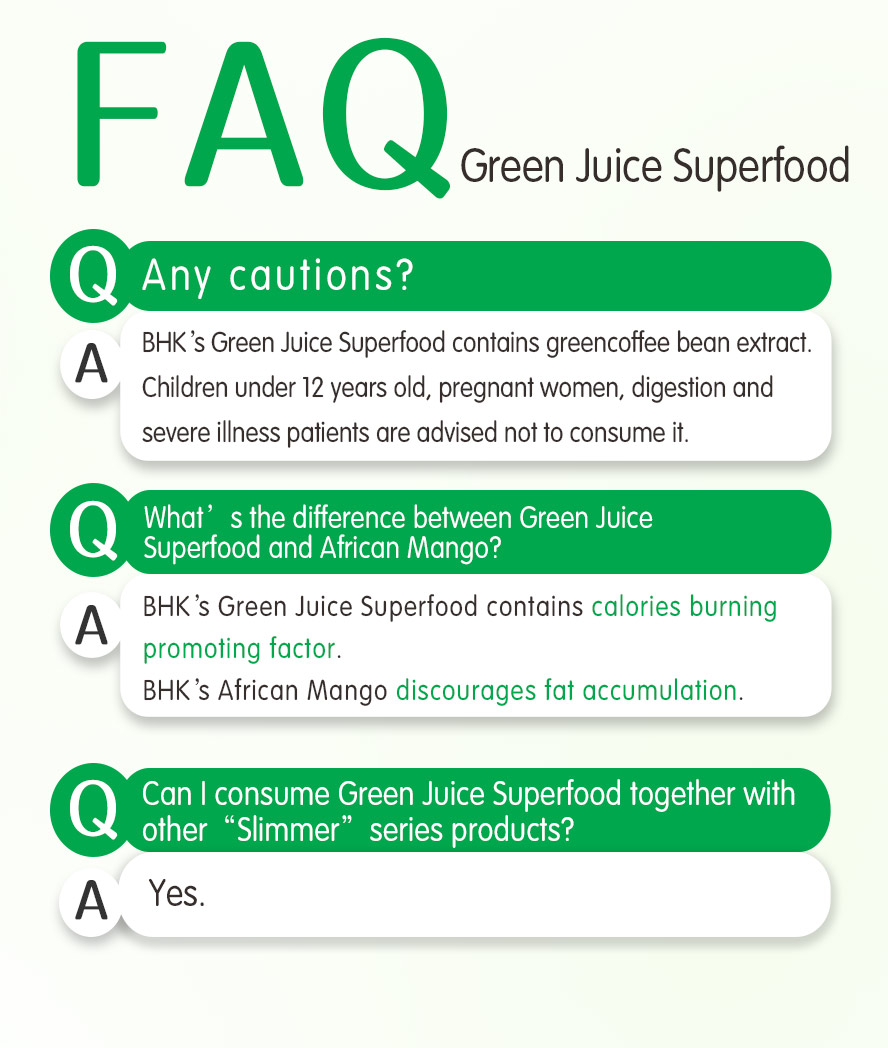 BHK's green juice superfood aids weight loss indirectly by boosting the metabolism.