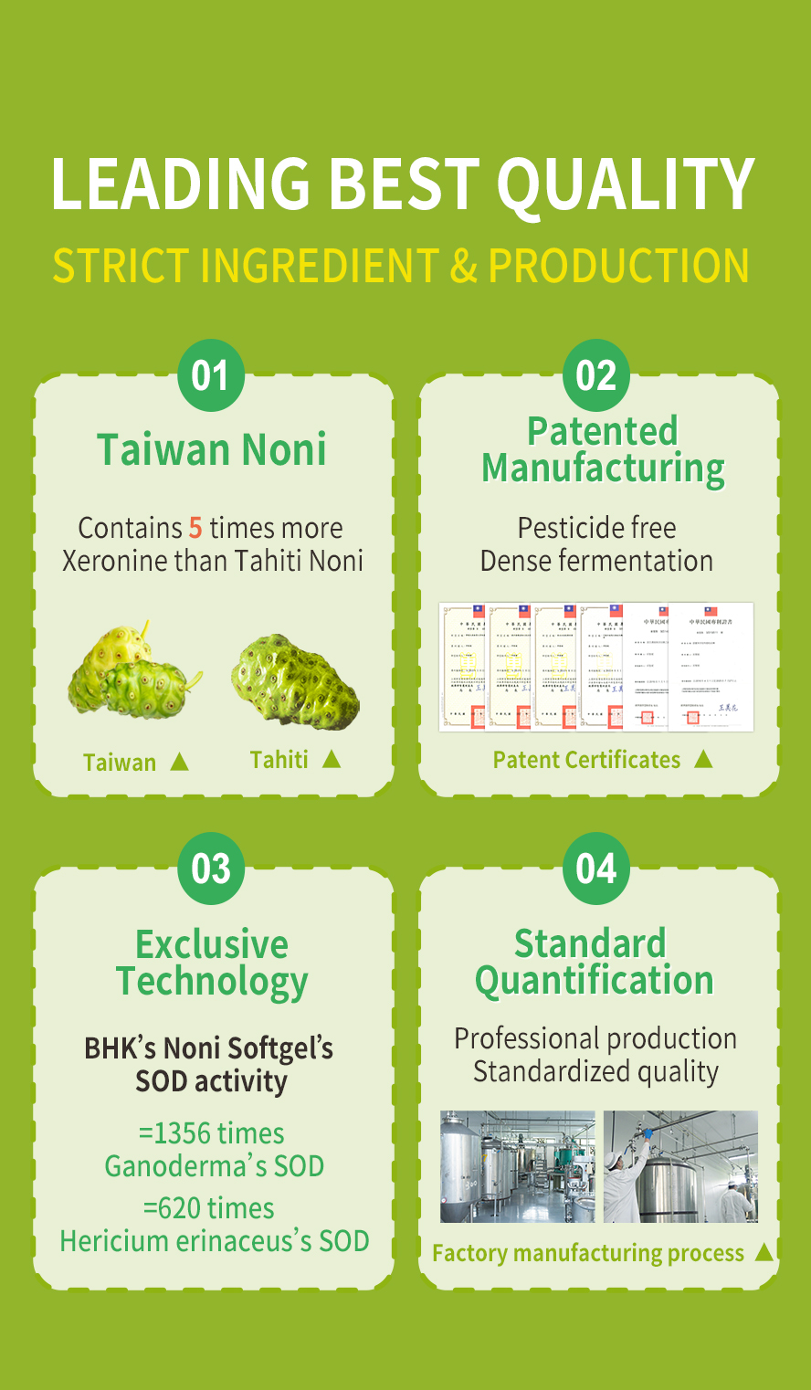 BHK's Noni is Taiwanese noni, it's very good variety.