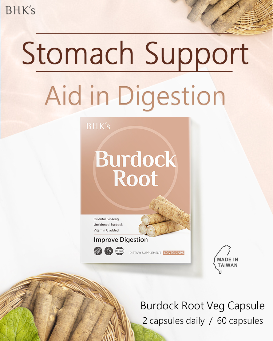 BHK's Burdock Root contains bitter glycosides, flavanoids, tannins and inulin that supports digestive health.