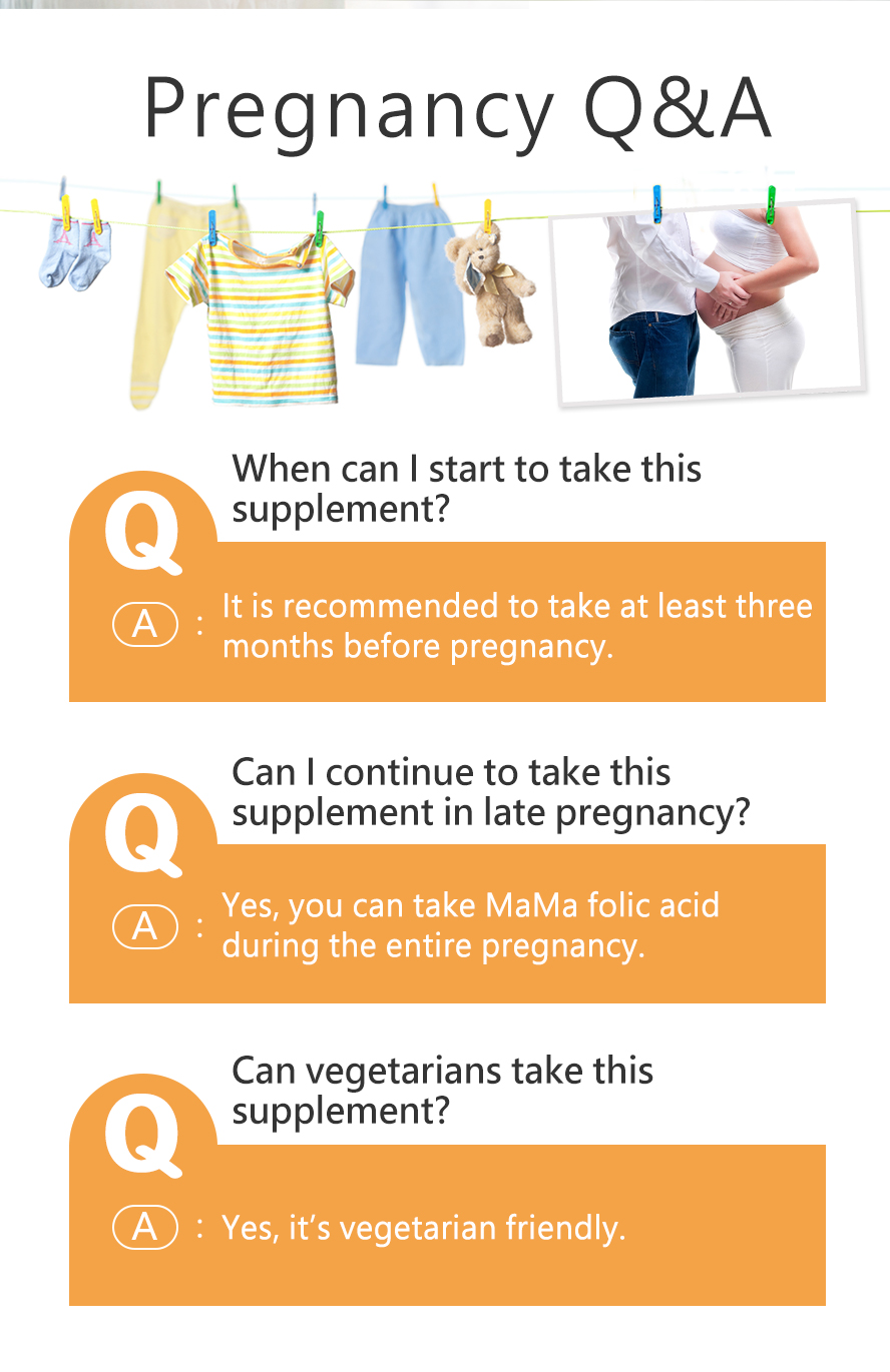 BHK Folic acid provide sufficient nutrient to mummy before and during pregnancy
