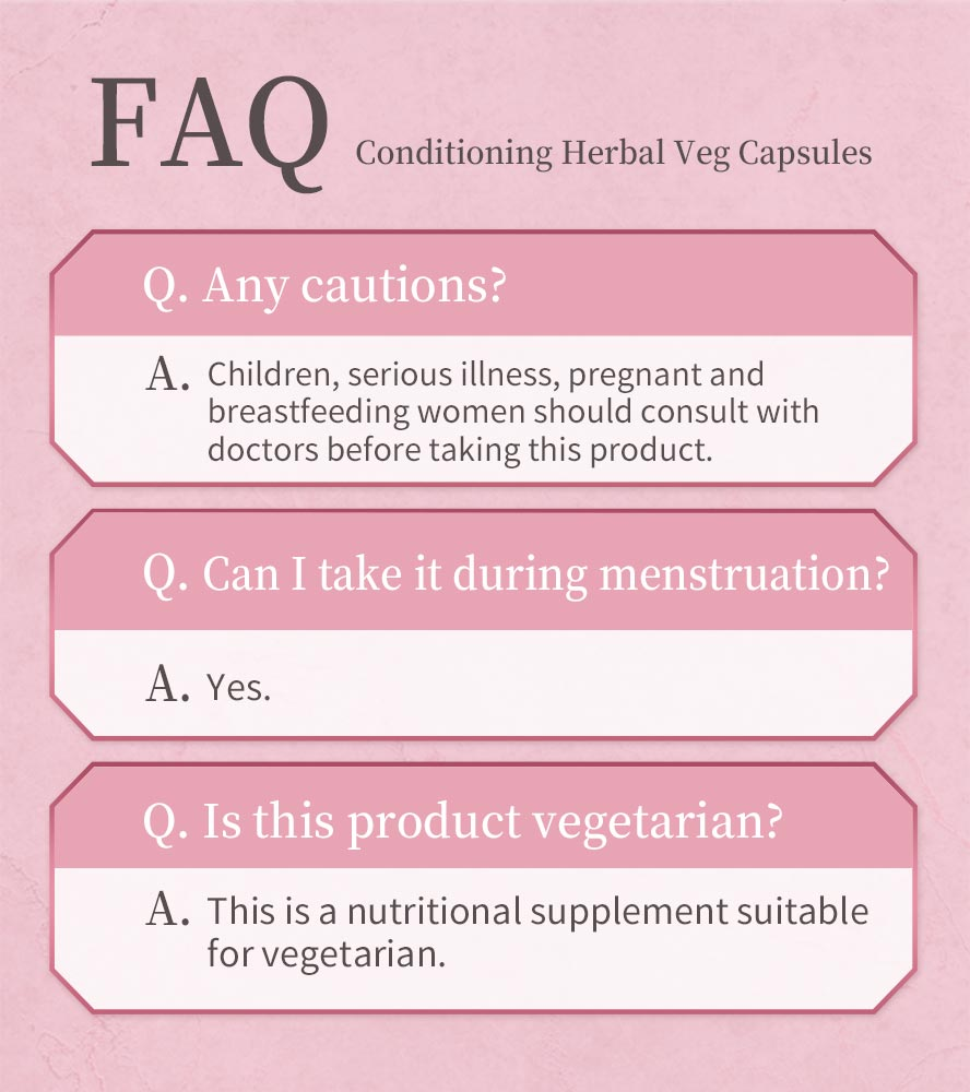 BHKs conditioning herbal is vegetarian.