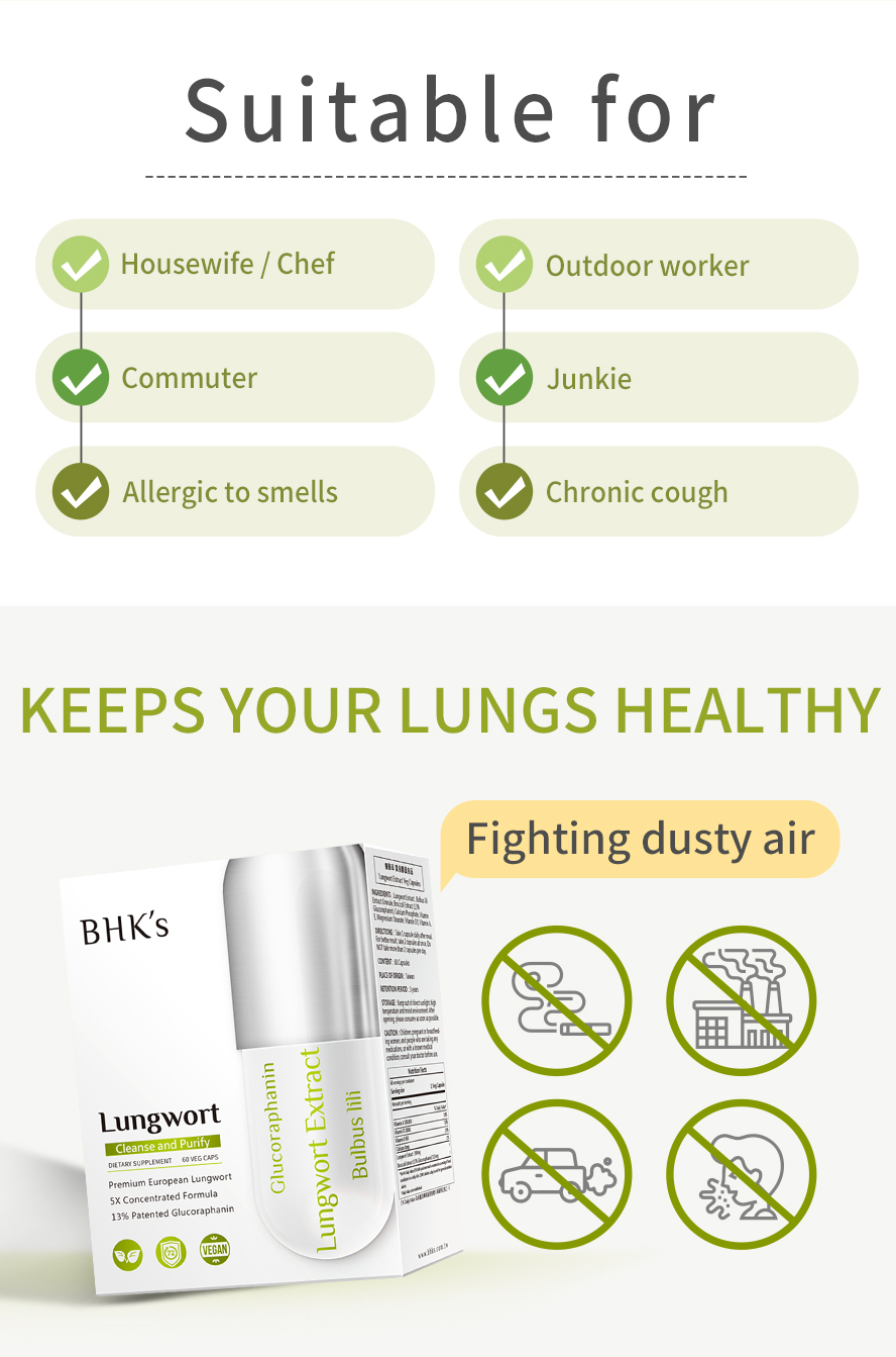 BHK's Lungwort is for smoker, commuter, housewife and people with respiratory tract problems.
