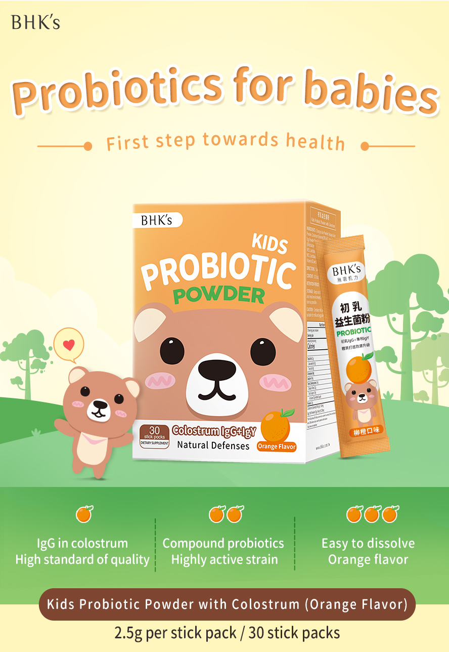 BHK's Probiotic is designed for kids to help support a healthy digestive system.