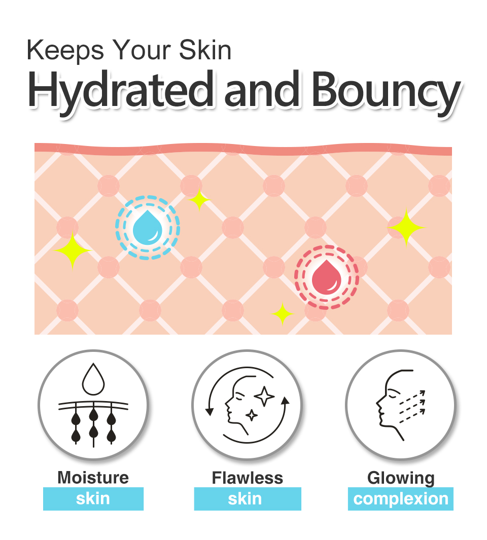 BHK's Hyaluronic-acid and vitamin A keep your skin hydrated.