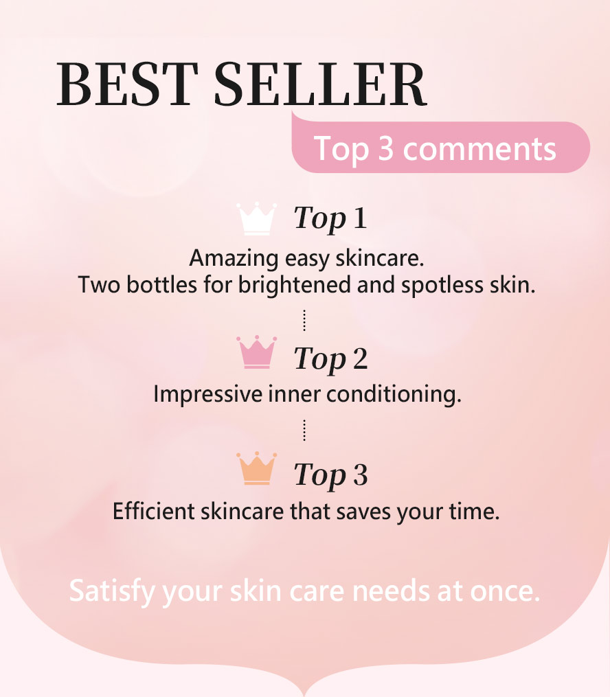 BHK's Luxurious beauty and Natural arbutin is the top products recommended by customers.
